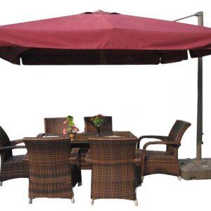 Садовый зонт квадратный с кантом A002-3030 (3х3 м)