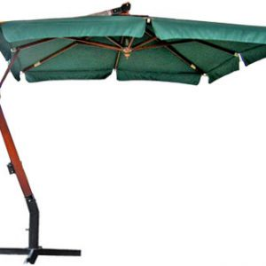 Садовый зонт квадратный с боковым кантом SLHU007 (3х3 м) зеленый