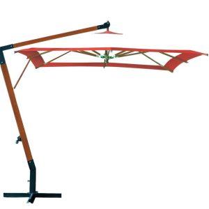 Садовый зонт пятигранный SLHU008 (диам. 3 м) кремовый с терракотой