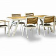 Обеденная группа Марке — Садовая мебель — Деревянная мебель — Комплекты садовой мебели из дерева — Обеденные комплекты