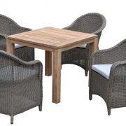 Обеденная группа Леричи (4 персоны) — Садовая мебель — Пластиковая мебель — Комплекты садовой мебели из пластика — Обеденные комплекты