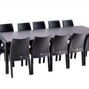 Серый раздвижной стол-трансформер Symphony (Extensions)